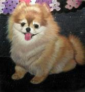 Dog Portrait Pastels - Cuttie by Deb LaFogg-Docherty