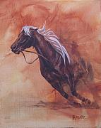 Quarter Horse Framed Prints - Cutting Horse I Framed Print by Pam Froemke