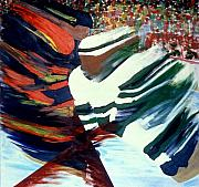 Sports Art Paintings - Cutting In by Yack Hockey Art