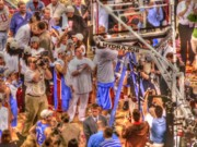 Ncaa Prints - Cutting the nets Print by David Bearden