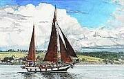 Penn Cove Prints - Cutty Sark Print by Perry Woodfin