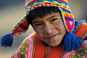Highlands Posters - Cuzco Children in costumes. Republic of Peru.  Poster by Eric Bauer