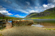 Summer Digital Art Metal Prints - Cwm Idwal Metal Print by Adrian Evans