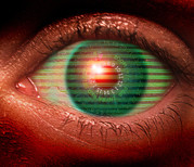 Technological Posters - Cybernetic Eye Poster by Victor Habbick Visions