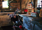 V Twin Prints - Cycle Barn 2 Print by Peter Chilelli