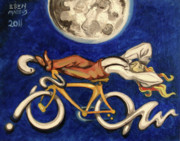 Bicycles Paintings - Cycle Dream by Ellen Marcus