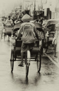 Transportation Pyrography Prints - Cycle Rickshaw  Print by Charuhas Images