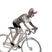 Human Race Prints - Cyclist Print by Bernard Jaubert