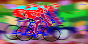 Stock Photo Digital Art - Cyclist by Daniel Chui