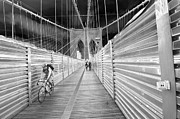 Mark Gilman - Cyclist On The Brooklyn Bridge