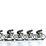 Large Group Of Objects Art - Cyclists by Bernard Jaubert