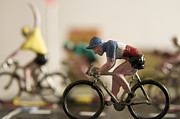 Race Metal Prints - Cyclists. Figurines. Symbolic image Tour de France Metal Print by Bernard Jaubert