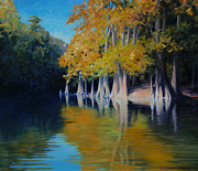 Calcasieu River Posters - Cypress Bank Poster by Kevin Lawrence Leveque
