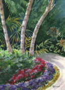 Florida Flowers Painting Prints - Cypress Gardens Print by Marsha Elliott