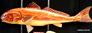 Fish Sculpture Sculptures - Cypress Red Fish by Douglas Snider
