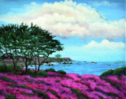 Laura Iverson - Cypress Trees by Lovers Point