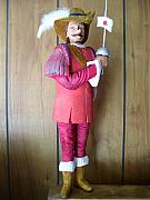 Woodcarving Sculpture Prints - Cyrano Debergeac Print by Michael Pasko