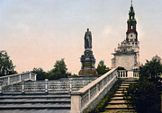 Historic Statue Prints - Czar Alexanders Monument in Czestochowa - Poland - ca 1900 Print by International  Images
