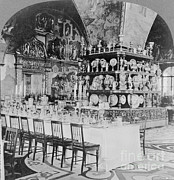Dining Hall Prints - Czars Dining Hall In The Kremlin, 1919 Print by Photo Researchers