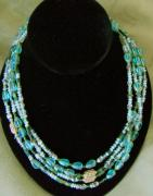 Czech Jewelry - Czech glass bead necklace by Jan Durand