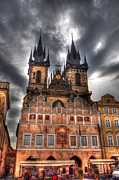 Prague Czech Republic Digital Art Posters - Czeh Morning Poster by Barry R Jones Jr
