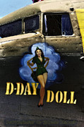 Dc3 Framed Prints - D-Day Doll Framed Print by Ronald KENNEY