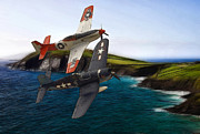 Jet Painting Prints - D-day Print by Stefan Kuhn