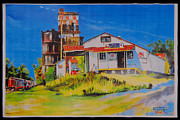 Historic Country Store Prints - D. J. Feed Store Print by Thomas MACMILLAN