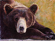 Friendly Pastels - Da Bear by Billie J Colson