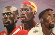 Jordan Painting Originals - Da Bulls by Brandon Ramquist