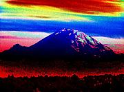 Mount Digital Art - Da Mountain by Tim Allen