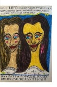 Mechanics Pastels Originals - Da Vinci Twin Monna Lisa Wz Boson Pair Of Vanity Fair by Francesco Martin