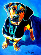 Dawgart Painting Originals - Dachshund - Tyson by Alicia VanNoy Call