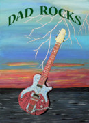 Fathers Paintings - Dad Rocks by Eric Kempson
