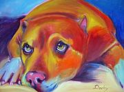 Staffordshire Bull Terrier Paintings - Daddy by Kaytee Esser