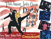 1955 Movies Art - Daddy Long Legs, Fred Astaire, Leslie by Everett