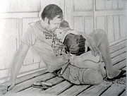 What Is Life?  Drawings - Daddys Girl by Peter Morris