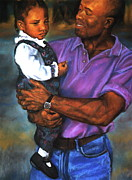 Artist Curtis James Pastels - Daddys Little Girl by Curtis James