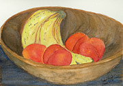 Wooden Bowl Paintings - Daddys Wooden Bowl by Joan Zepf