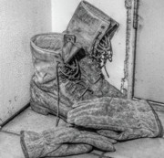 Gloves Digital Art - Dads Boots by Randy Steele