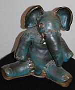 Whimsical Ceramics Originals - Dads Elephant by Vicki McComas