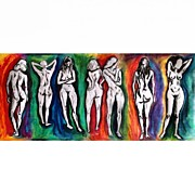 Nudes Art - Dads Figure Studies On Spectrum by Pushkaraj Shirke