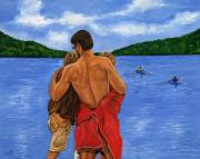 Kayak Paintings - Dads Love by Sweta Prasad