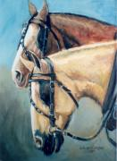 Blinders Prints - Dads Team     Horses in Harness Print by JoAnne Corpany