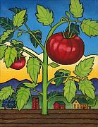 Vegetable Paintings - Dads Tomato by Stacey Neumiller