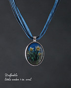 Blue Flowers Jewelry - Daffodils  by Melissa Huber