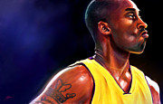 Kobe Bryant Framed Prints - Daggers Framed Print by Jack Perkins