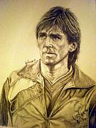 Soccer Drawings Originals - Daglish by Sean Leonard