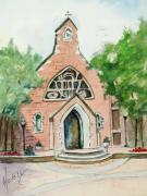 Chapel Painting Metal Prints - Dahlgren Chapel Metal Print by Mary DuCharme