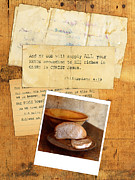 Photo Collage Photo Prints - Daily Bread Photo and Verse Print by Jill Battaglia